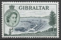 Gibraltar. 1953-59 QEII. ½d MH. SG145 - Gibraltar