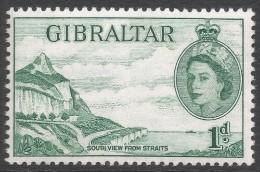 Gibraltar. 1953-59 QEII. 1d MH. SG146 - Gibraltar
