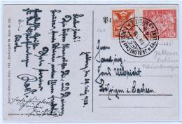 TCHECOSLOVAQUIE: Timbres N° 161 Et 185 Obl Jablonec (Bohème) En 1923, Pour L'Allemegne (Saxe) - Lettres & Documents