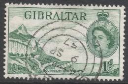 Gibraltar. 1953-59 QEII. 1d Used. SG146 - Gibraltar