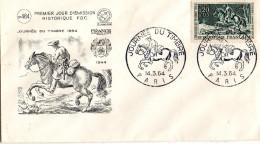 F. D. C. FRANCE - Journée Du Timbre 1964  Courrier à Cheval  75 Paris  N° 1406 - FDC