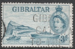 Gibraltar. 1953-59 QEII. 3d Used. SG150 - Gibraltar