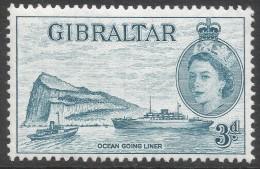Gibraltar. 1953-59 QEII. 3d MH. SG150 - Gibraltar