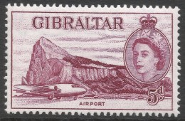 Gibraltar. 1953-59 QEII. 5d MH. SG152 - Gibraltar
