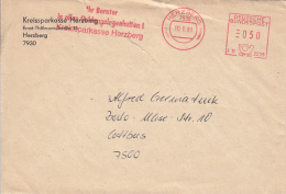 45696- AMOUNT 50, HERZBERG, DEPARTMENT STORE, RED MACHINE STAMPS ON COVER, 1991, GERMANY - Storia Postale