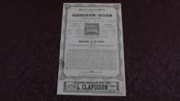 HARMONIUM - DEBAIN - MANUFACTURE / PUBLICITE DE 1844 ISSUE DE LA REVUE ET GAZETTE MUSICALE. - Publicités