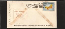 E)1966 CUBA, BUTTERFLIES, FAUNA, ANIMAL, 1000 A310,  MARCOPHILIA - Kuba