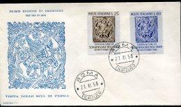 11421 Italia,  Fdc   1958  Visita Dello Scià Di Persia,  Visit Of The Persian King - F.D.C.