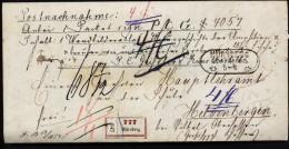 A4073) Bayern Nachnahme-Paketbegleitbrief Von Nürnberg 5.6.1868 Nach Heldenbergen - Bayern