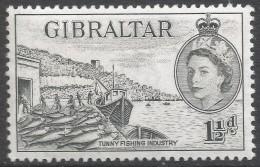 Gibraltar. 1953-59 QEII. 1½d MH. SG147 - Gibraltar