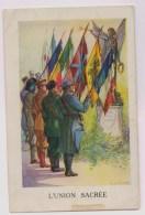 Quatre Cartes L'Italie Parmi Les Alliés - Patriotiques