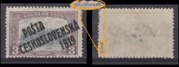 CSSR 1903 Mi 0135 OVPT On Hungary Mint Proofed GILBERT......................ATTEST On REQUEST....................f&b 184 - Czechoslovakia