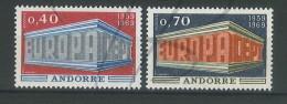 VEND BEAUX TIMBRES D´ANDORRE N°194+195 , XX !!!! - Andorre Français