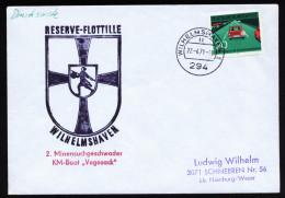 A4080) Bund Drucksache-Brief Von Marine Wilhelmshaven KM-Boot Vegesack 22.4.71 - BRD