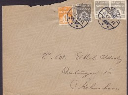 Denmark Brotype Ia FAAREVEJLE ST. (VERY SCARCE Cds.) 1913 Cover Brief Postal Stationery Ganzsache Entier Cutout (2 Scans - Lettere