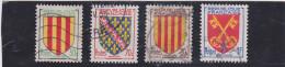 FRANCE    1955  Y.T. N° 1044  à  1047  Oblitéré - 1941-66 Stemmi E Stendardi