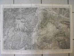 Carte Toilée D´état Major (topographique). J. Dumaine 1866. Privas Montélimar Livron Crest Chateauneuf - Topographical Maps