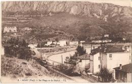 -83- AGAY  La Plage Et Le Rastel Neuve TTBE - Francia