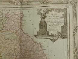 CARTE ITALIE ETATS DE L EGLISE DE TOSCANE MODENE ET LUQUES PAR BRION DE LA TOUR 1766 - Mapas Geográficas