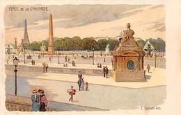 CPA - Place De La Concorde - C. Schmidt - HTS Litho E. Nister Art Card - Squares