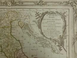CARTE L ITALIE DIVISEE DANS TOUS SES ETATS ET ASSUJETTIE BRION DE LA TOUR 1766 - Carte Geographique