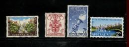 AUSTRALIE YEAR  1956 MNH *** YVERT 231 232 233 234 Olympische Spelen Melbourne - Storia Postale