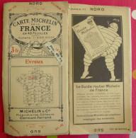 Carte Michelin N° 10. Toilée. 1924. Evreux Falaise Laigle Mantes Houdan Sées Argentan Flers Dreux - Carte Stradali