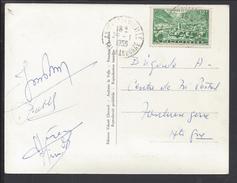 """ANDORRE - 1955 - CORRESPONDANCE DE ANDORRE LA VIEILLE VERS TOULOUSE SUR CARTE POSTALE """"VALLS D'ANDORRA - PAS DE LA CASA"""" - Lettres & Documents"""