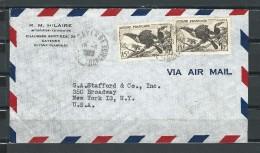 France Guyane 1948 Toucan Enveloppe Lettre N° 214 YT French Guyana Cover Bird - Guyane Française (1886-1949)