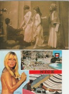 Lot 2  CPM  Nus Else Und Maria  Seins Nus Nice Non Circulees - Romantiques < 1960
