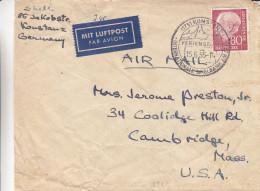 République Fédérale - Lettre De 1956 - Oblitération Konstanz Ferienstadt - Valeur 25 Euros - [7] West-Duitsland
