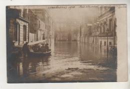 PARIS - Carte Photo - Inondations De La Rue Clément Marot - Alluvioni Del 1910