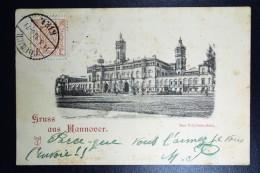 Deutschland  Postkarte Mit 3 Pf Stadtpsot Hannover  1898 - Private