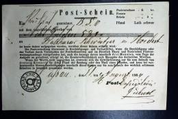 Thurn Und Taxis Post-Schein 1864
