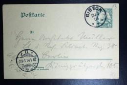 Deutsch-Südwest-Afrika Postkarte P18 GIBEON To Berlin  1908