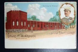 Deutsch-Südwest-Afrika Postkarte P2 Privat DruckGruss Aus Windhoek ,