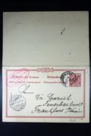 Deutsch-Südwest-Afrika Postkarte P12 Swakopmund To Frankfurt And Back Also RRR