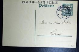 Deutsch Togo:Postkarte P 1 Französische Besetzung Sansane Mang To Momé - Colonie: Togo