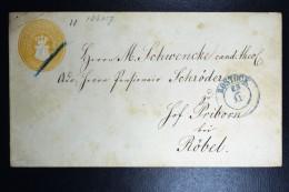 Deutschland Mecklenburg-Schwerin Umschlag Rostock To Röble,  Klappenstempel Nicht Bekantt - Mecklenburg-Schwerin