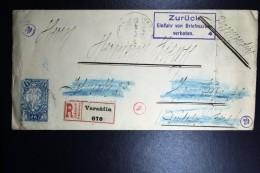 Deutschland: Cover From Croatia,  Zuruck Einführ Von Briefmarken Verboten + Slip At Backside!  RRR