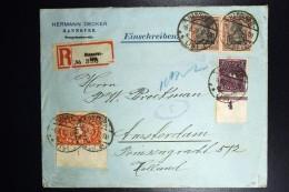 Deutschland: 1922 Einschreiben Brief Hannover To Amsterdam