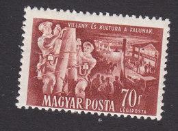 Hungary, Scott #C91, Mint Hinged, Telegraph Linemen, Issued 1951 - Airmail