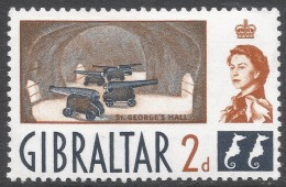Gibraltar. 1960-62 QEII. 2d MNH. SG162 - Gibraltar