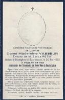 PAS DE CALAIS - 62 -BAYENGHEM LES EPERLECQUES - Carte Mortuaire - Madeleine Vasseur épouse Emile Petit - France