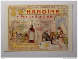 POUILLY EN AUXOIS (21) - Pharmacien - HANOINE / BOUTEILLE - Plantes - Carte Postale Moderne Reproduisant Affiche - France
