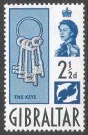 Gibraltar. 1960-62 QEII. 2½d MNH. SG163 - Gibraltar