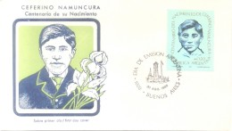 CENTENARIO DEL NACIMIENTO DE CEFERINO NAMUNCURA - INDIANS INDIOS FDC FIRST DAY COVER ARGENTINA 1986 MARTIR - Christianisme