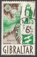 Gibraltar. 1960-62 QEII. 6d Used. SG166 - Gibraltar
