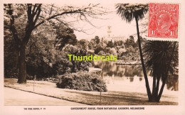 CPA  REAL PHOTO POSTCARD GOVERNEMENT HOUSE FROM BOTANICAL GARDENS MELBOURNE THE ROSE SERIES - Melbourne