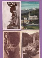 LOURDES:LOT DE 4 CARTES  POSTALES ET UNE PHOTO. - Lourdes